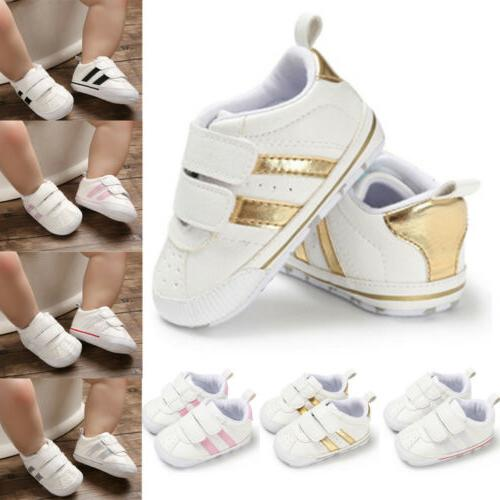Newborn Baby Crib Shoes Faux Infant Walker Sneakers