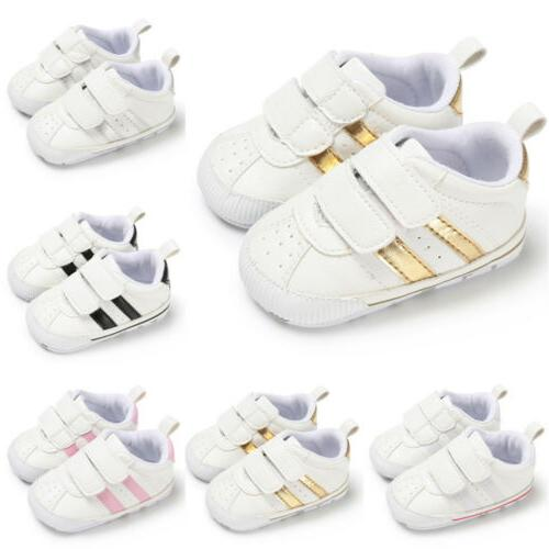 Newborn Baby Crib Faux Leather Infant Sneakers