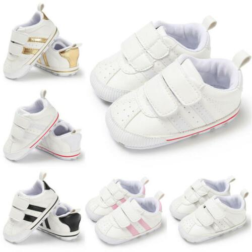 Newborn Baby Crib Leather Infant Toddler Sneakers