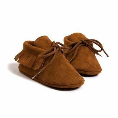 Newborn Cute Tassel Soft Sole Toddler Boy Girl Shoes