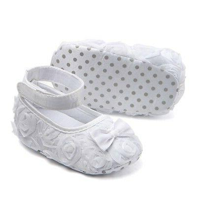 Newborn Baby Shoes Rose Flower 0-24M