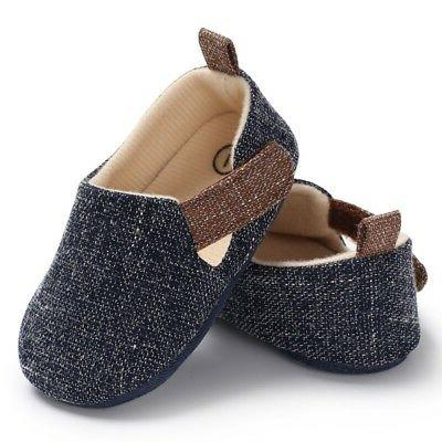Newborn Infant Shoes Sole Crib Prewalker 0-18M