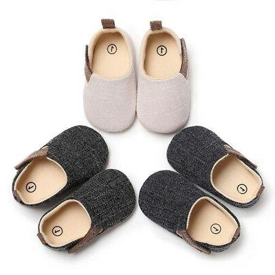 Newborn Infant Baby Shoes Toddler Boy Soft Sole Crib Shoes 0-18M