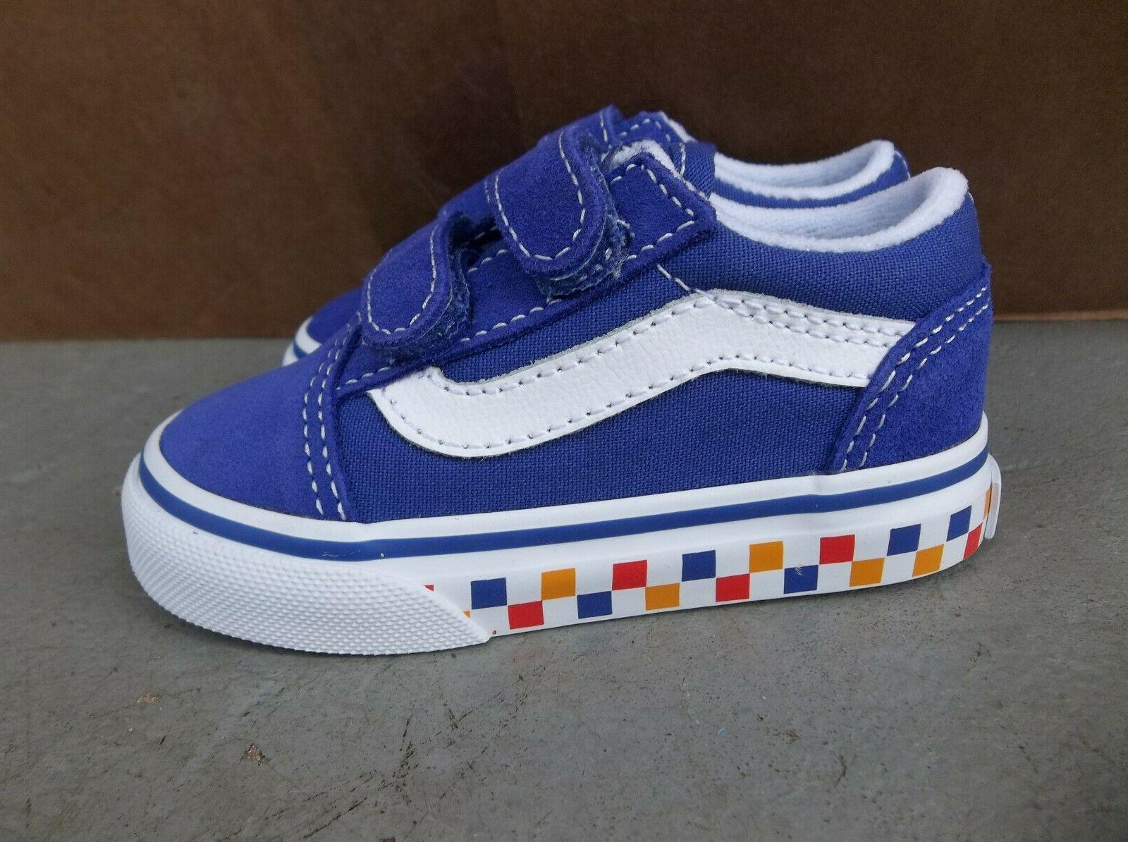 NWT OLD SKOOL TRI CHECKERBOARD SNEAKERS/SHOES.SIZE