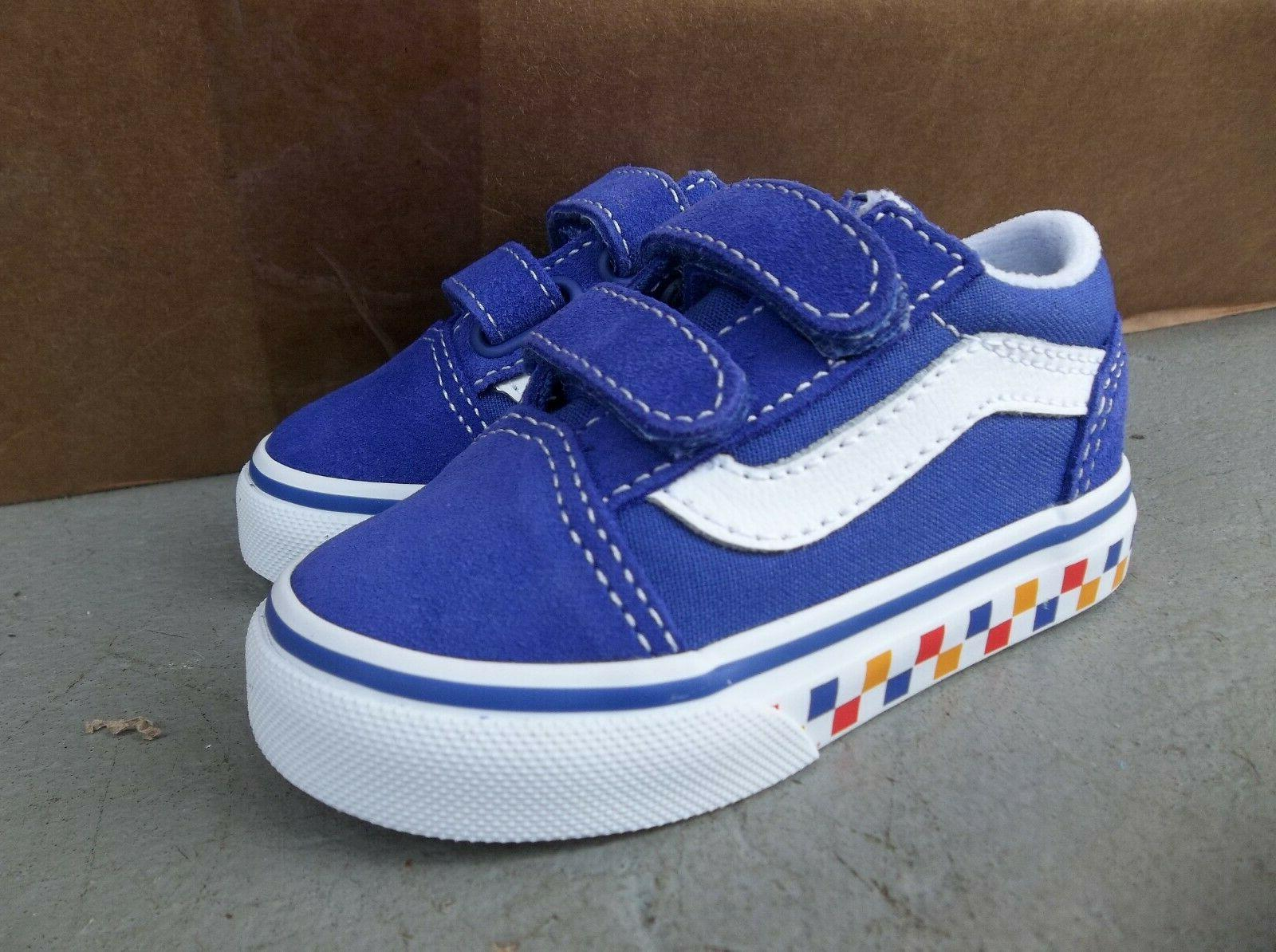 NWT GIRLS OLD V CHECKERBOARD SNEAKERS/SHOES.SIZE