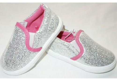nwt toddler girl s sparkly glitter silver