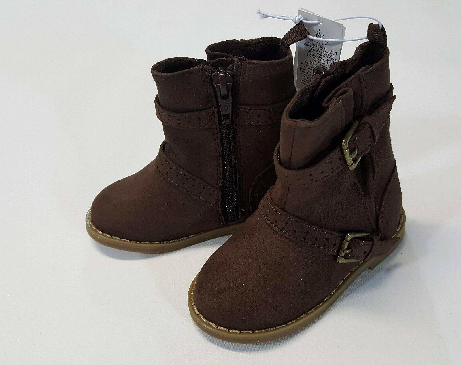 NWT Old Navy Toddler Girls Size 5 6 7 8 9 or 10 Brown Buckle