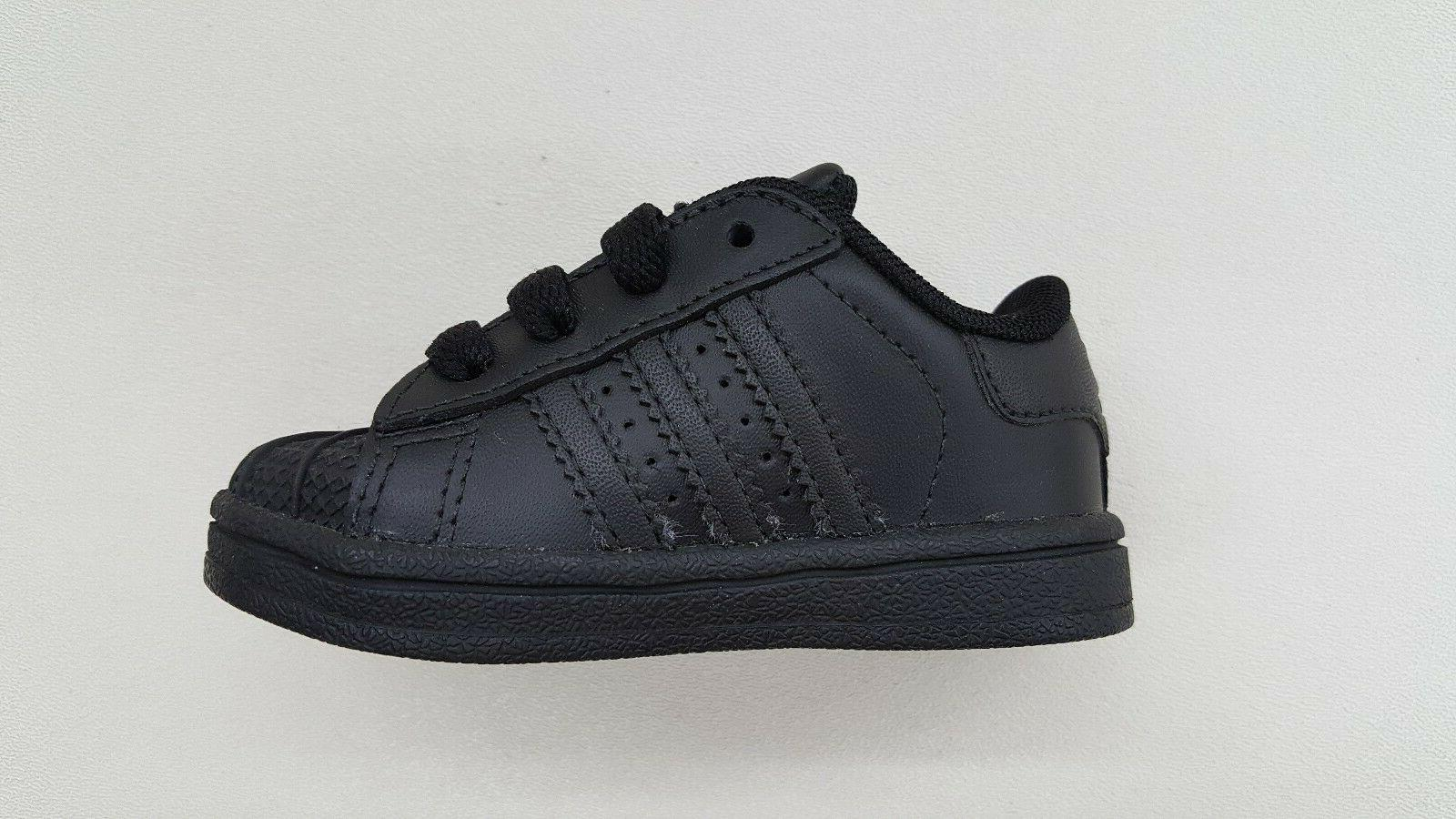ADIDAS ORIGINALS ALL BLACK BLACK TODDLER BABY SIZE SNEAKERS D70188