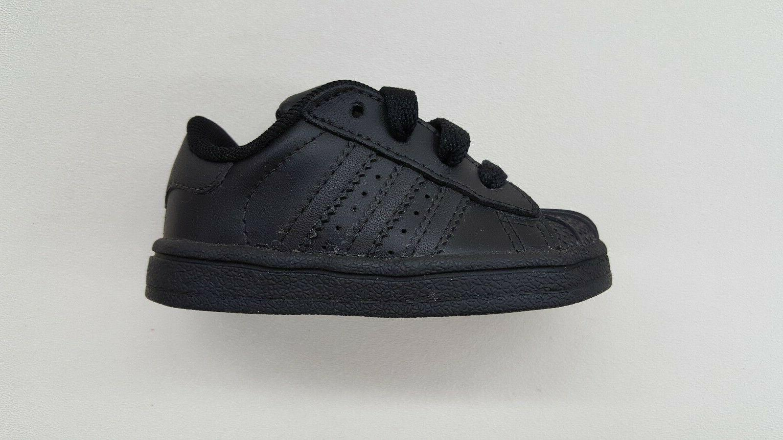 originals superstar all black on black toddler