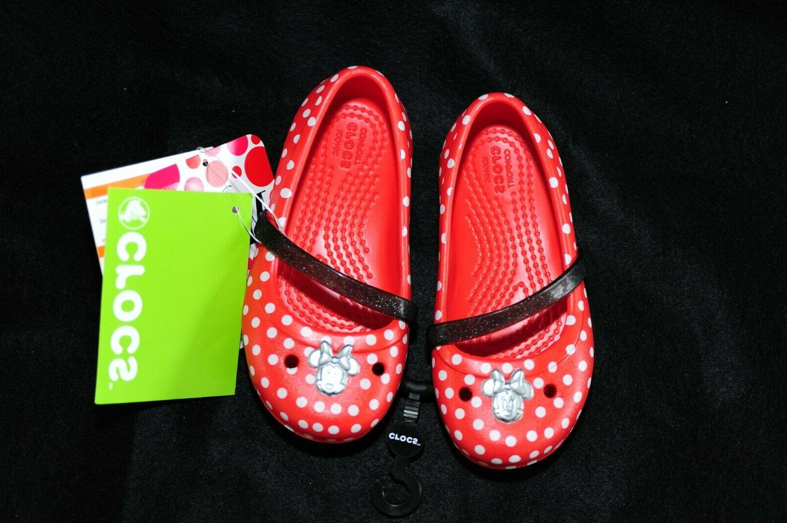 Crocs Minnie Polka Dot Size 8 Brand Water Shoes