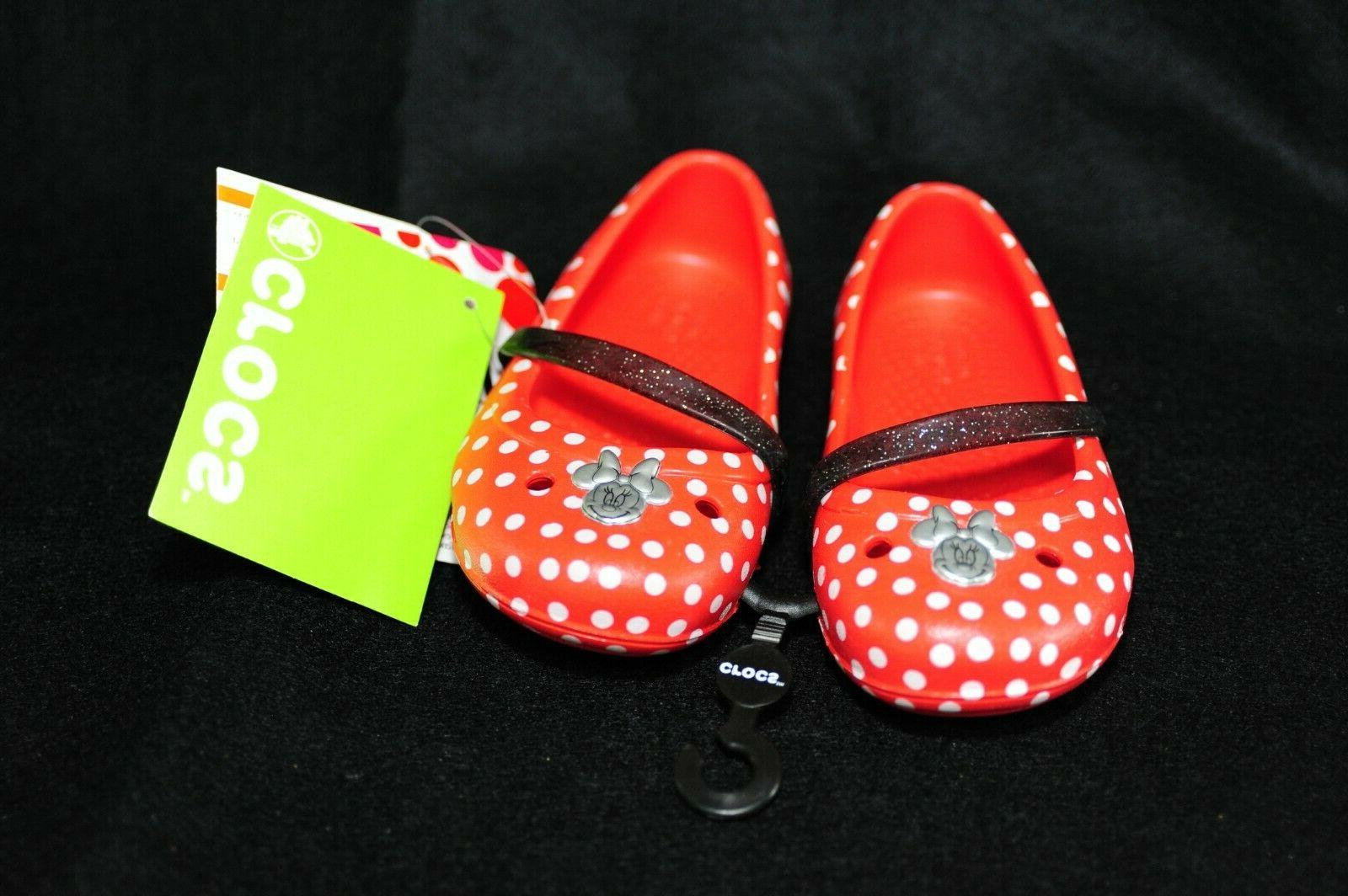 red minnie mouse polka dot toddler size