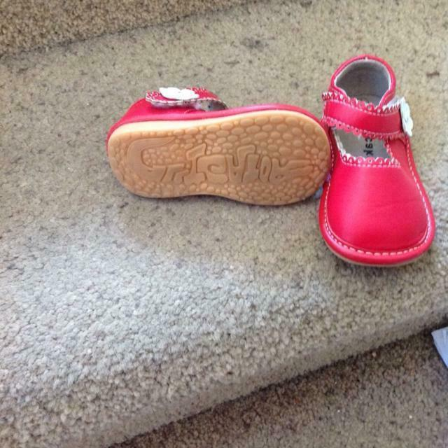 red soft leather mary janes shoes toddler