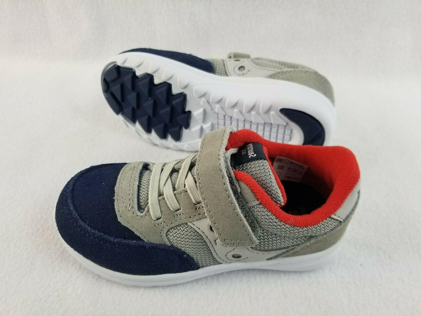 Saucony Shoes Boys Toddler Size 8.5 Wide Gray/Navy Sneakers