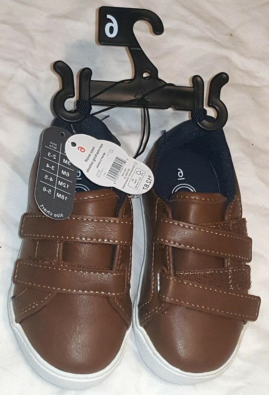 size 6 toddler boys double strap brown