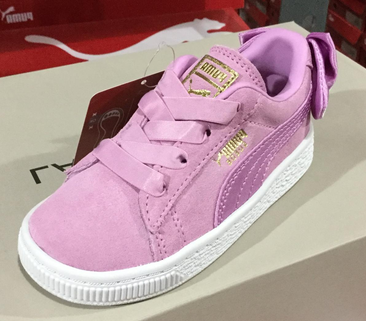 Puma Suede Bow Infant Toddler's Casual Shoes Orchid 367320 L