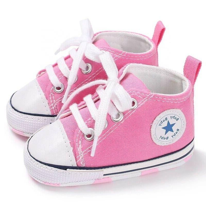 Toddler Baby Soft Sole Sneakers 0-18