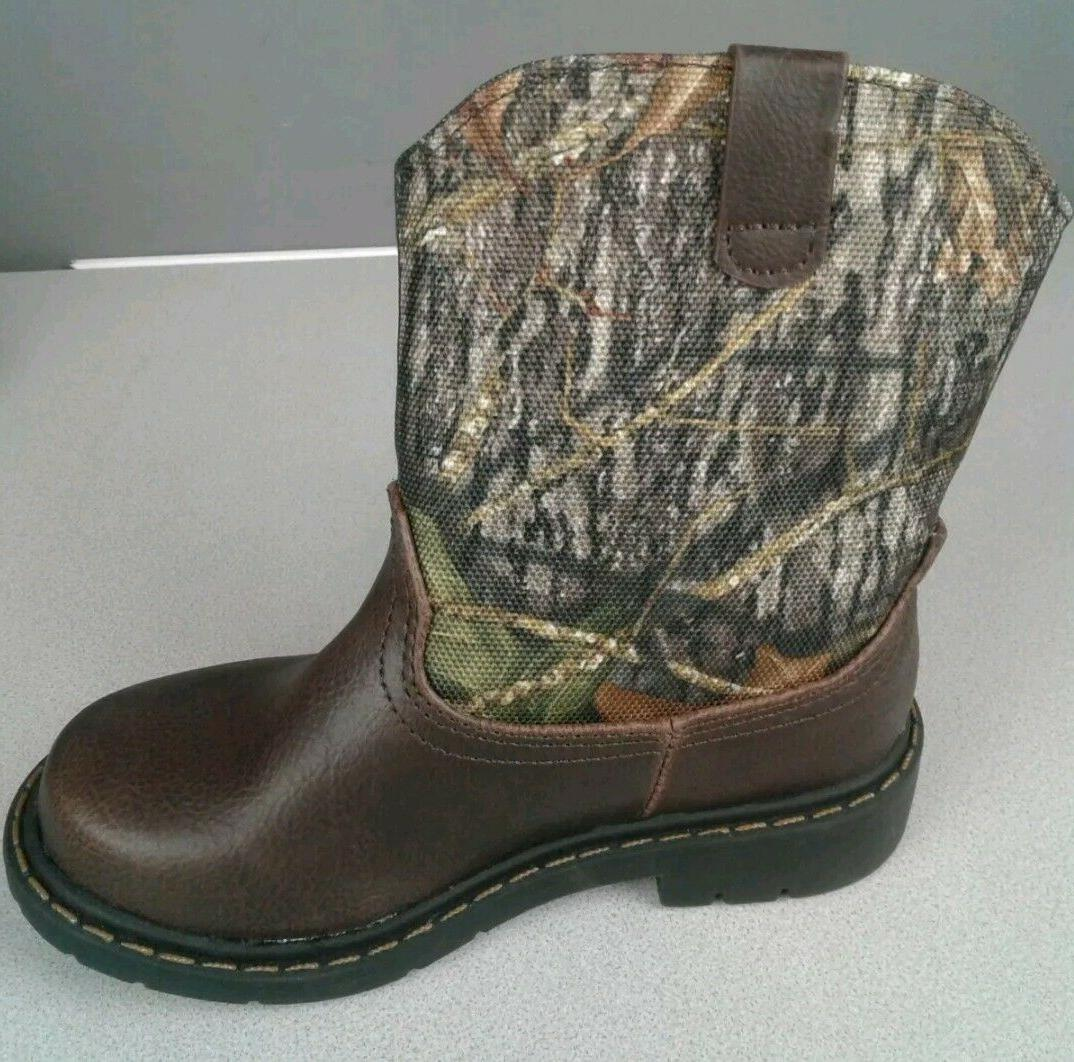 Mossy Boys/Girls Camo Cowboy Boots Shoes: