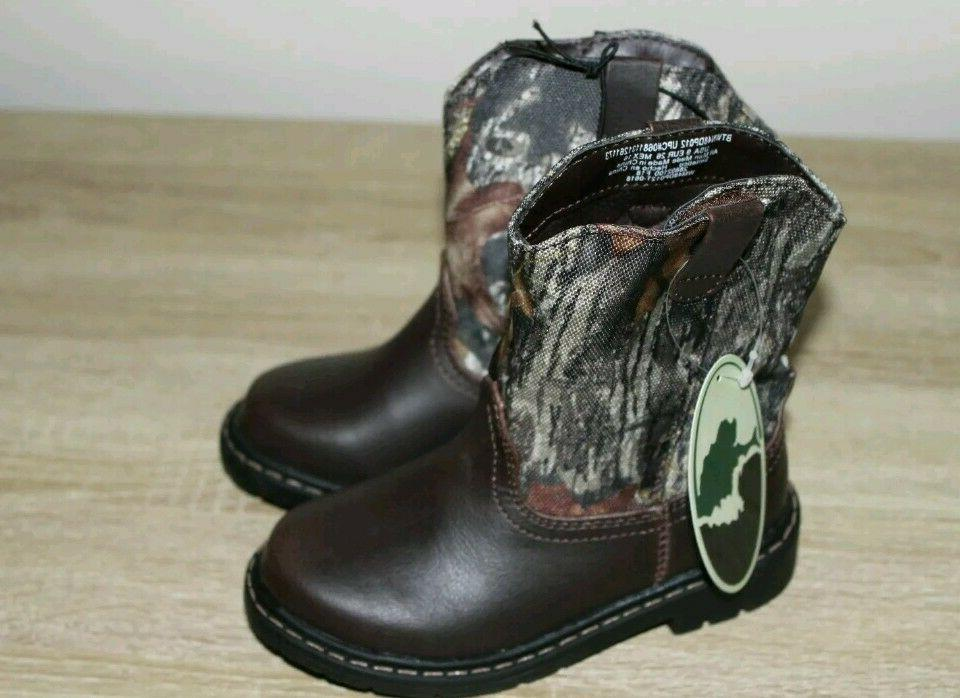 Mossy Oak Toddler Camo Boots Shoes: All Sizes 7-11