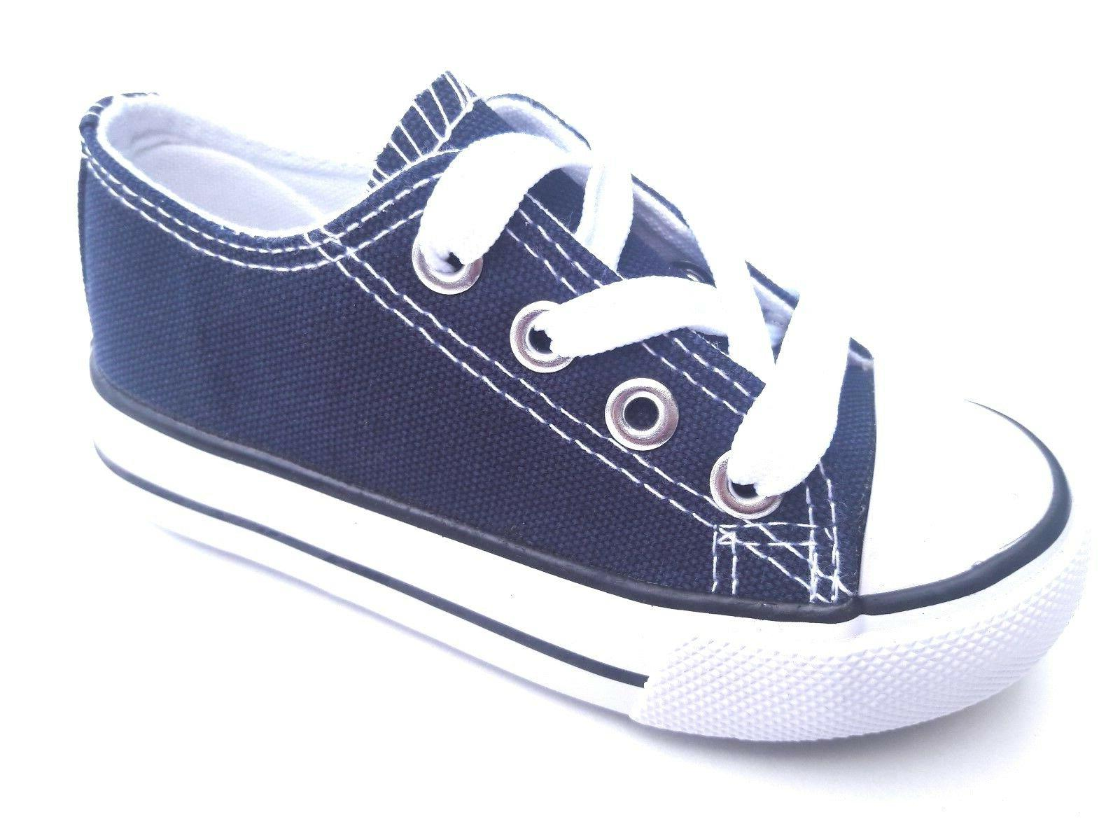 Toddler low canvas shoes 7-10 new