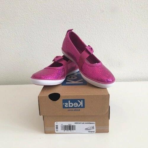 Keds Toddler Champion  Fuchsia Sequin Mary Jane Slip on Shoe