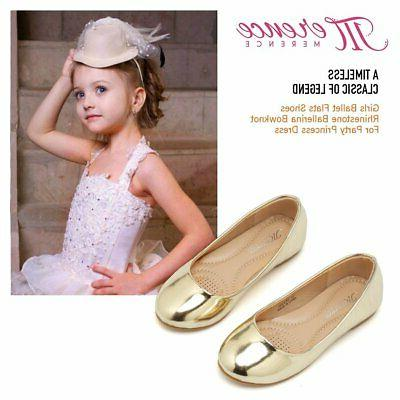 CIOR Toddler Flat Shoes Ballerina Mary Dress