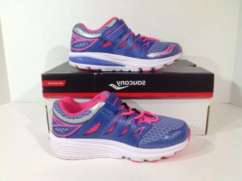 Saucony Toddler Girls Size 11M Purple/Pink Zealot Shoes