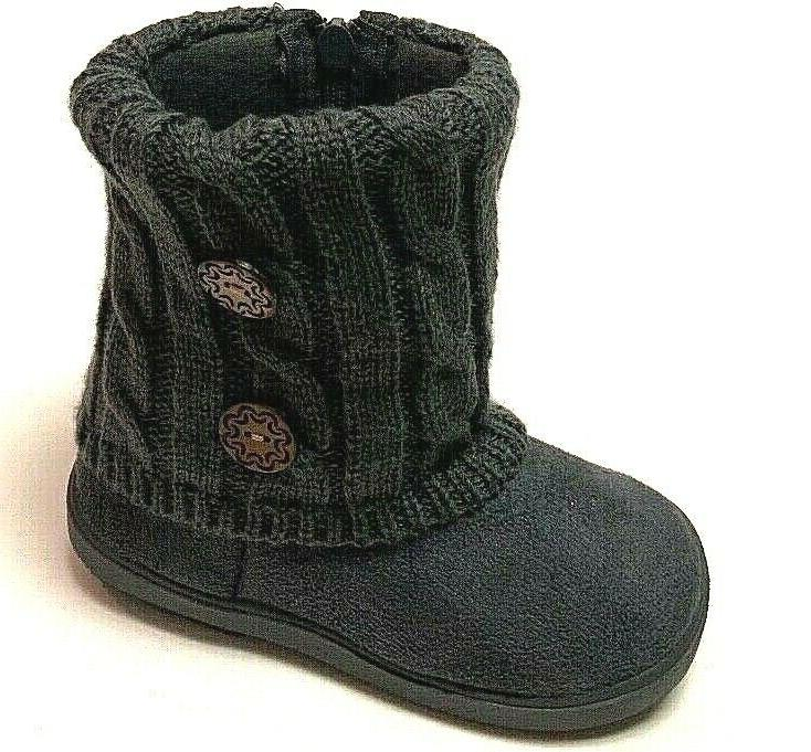 Toddler Kids Infant Casual Strap Warm Fur Boots Zipper