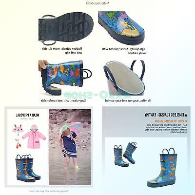 CIOR Toddler Girls Durable PVC & Shoes