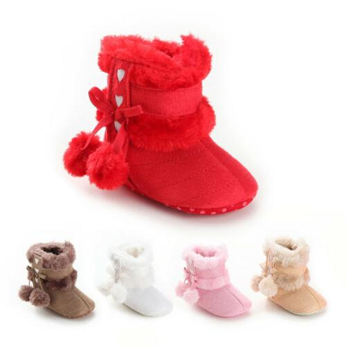 us newborn baby girl toddler fur boots