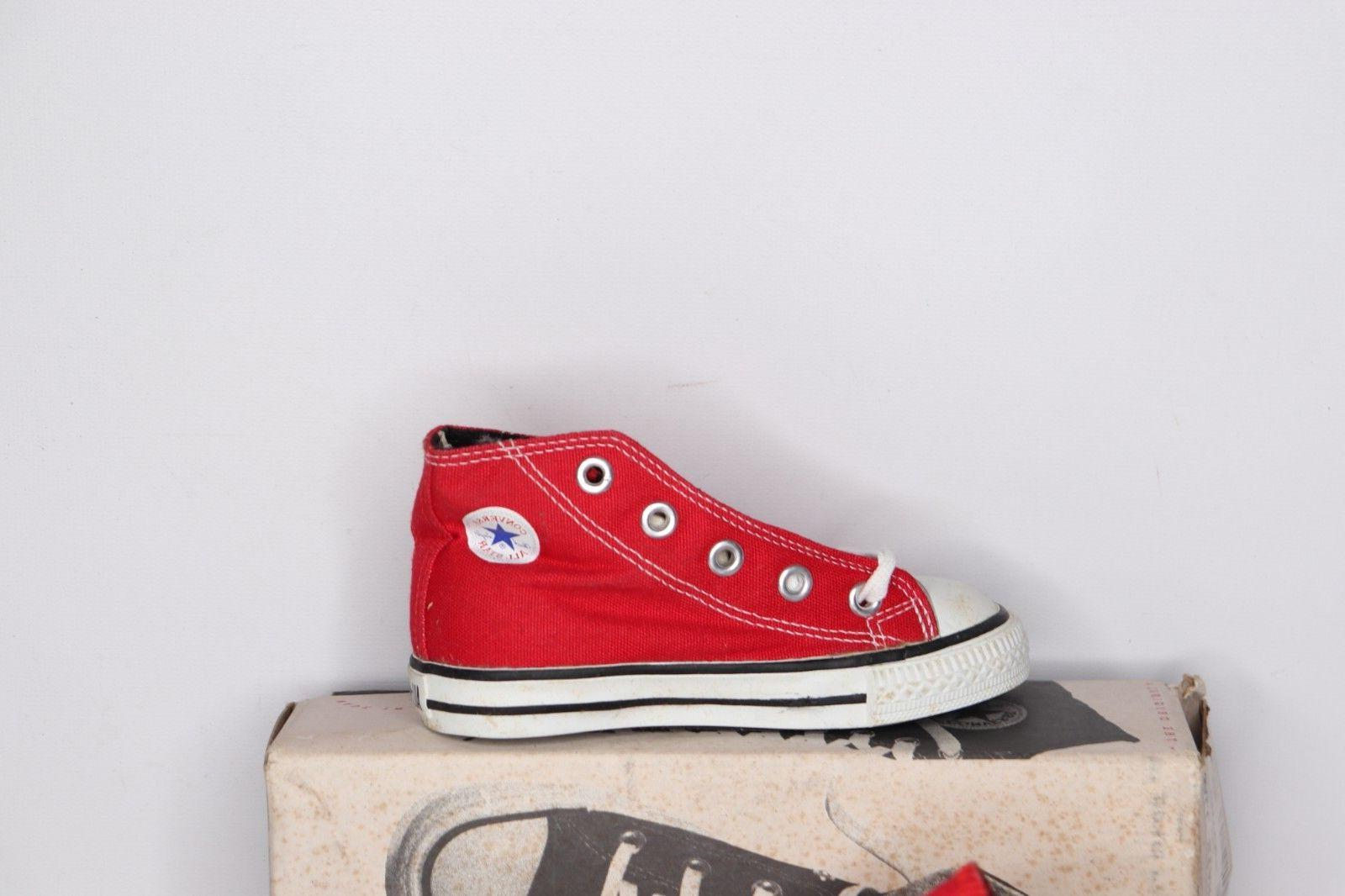 Vtg 90s Kids Size Small Hi Taylor Shoes Red