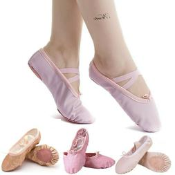 leather ballet shoes slippers split sole flats
