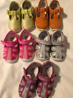 NATURINO LOT OF TODDLER GIRLS SHOES 21 5.5 M NEW $300 PINK G