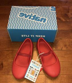 Native Margot Toddler Girl Torch Red Shoes Size C9 New