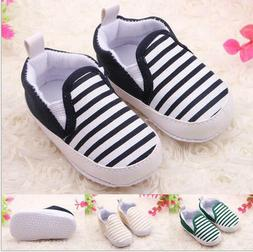 Modish Goodly Toddler Baby Boy Shoes Crib Shoes Sole Striped