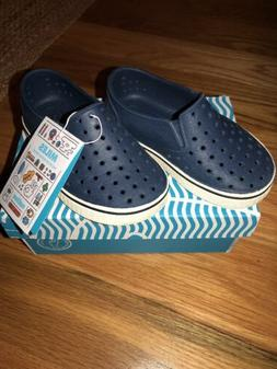 Native Navy Blue Water Shoes Boys size 8 Child Kids Toddler