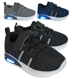 New Baby Mesh Sneakers Light Up Shoes Black Navy Grey Infant