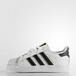 NEW ADIDAS BABY ORIGINALS SUPERSTAR TODDLER SHOES   WHITE/BL