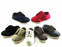 New Baby Toddler Boys Girls Oxford Canvas Shoes Size 4-8