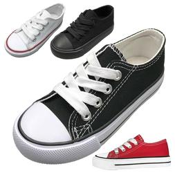 NEW Baby Toddler Canvas Lace Up Low Top Sneakers Shoe Size 4