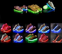 New Baby Toddler Light Up LED Shoes USB Rechargeable 7 Color