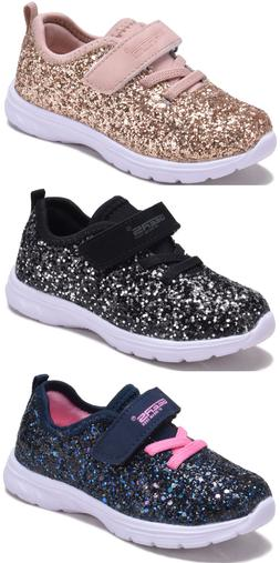 New Baby Toddler Sparkly Glitter Shoes Elastic Lace Fashion