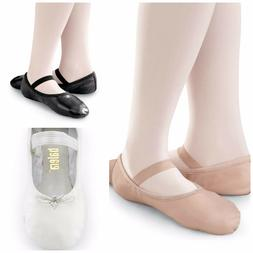 NEW Capezio Balera Pink Black White Full Sole Leather Ballet