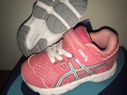 NEW ASICS Contend size 4 Infant/toddler GIRLS PINK CAMEO SLI