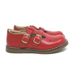 NEW Footmates Danielle Red Leather Double Strap Shoes Toddle