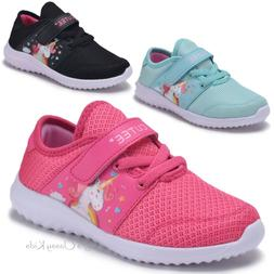 Girls Fuchsia Mint Unicorn Sneakers Tennis Shoes School Kids