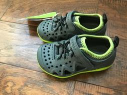 NEW Infant Toddler Crocs Swiftwater Play Shoes Gray Size 8 9