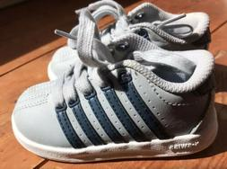 NEW K-Swiss Infant Toddler Kids Boys Classic Leather Shoes S