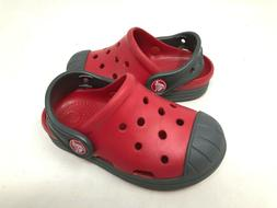 NEW! Crocs Toddler Boy's Bump It Clog Shoes Red/Gray Size:7