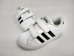 NEW! Adidas Toddler Boy's Grand Court Slip On Shoes White/Bl