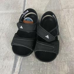 New Adidas Toddler Boys Black Sandals Water Shoes Swim White